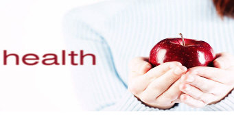 a_Woman holding apple beside the word health.jpg