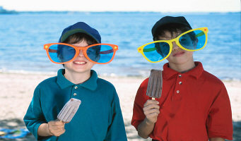 kids with large sunglasses and popsicles.jpg